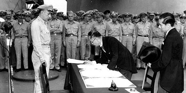 Офіційна і загальновизнана дата завершення Другої світової війни - 2-е вересня 1945-го року